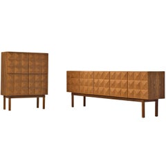 Franz Meyer, Set of Highboard and Sideboard, Rosewood, Germany, 1960s