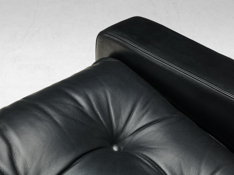 Franz Sartori Pair of Armchairs in Black Leather for Flexform For Sale 2