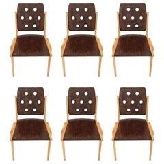 Franz Schuster Chairs Set of Six, Austria, 1950s
