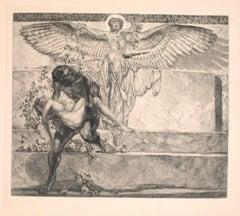 Abschied Vom Paradies - Vintage Héliogravure by Franz von Bayros - 20th Century
