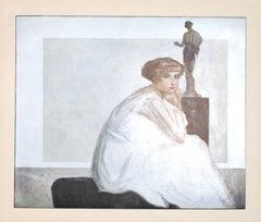 Die Marquise Von Bayros- Vintage Héliogravure by Franz von Bayros - 20th Century