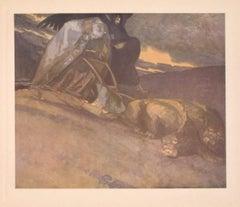 Schutzengraben - Héliogravure by Franz von Bayros - 1920s
