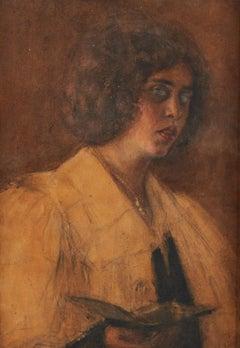 Portrait of a Woman by an Unknown Artist, In the Manner of Franz Von Stuck