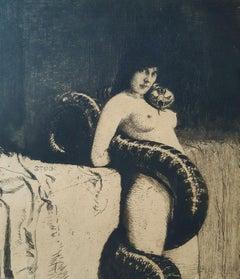 Die Sinnlichkeit  - Etching and Aquatint by Franz von Stuck - 1889