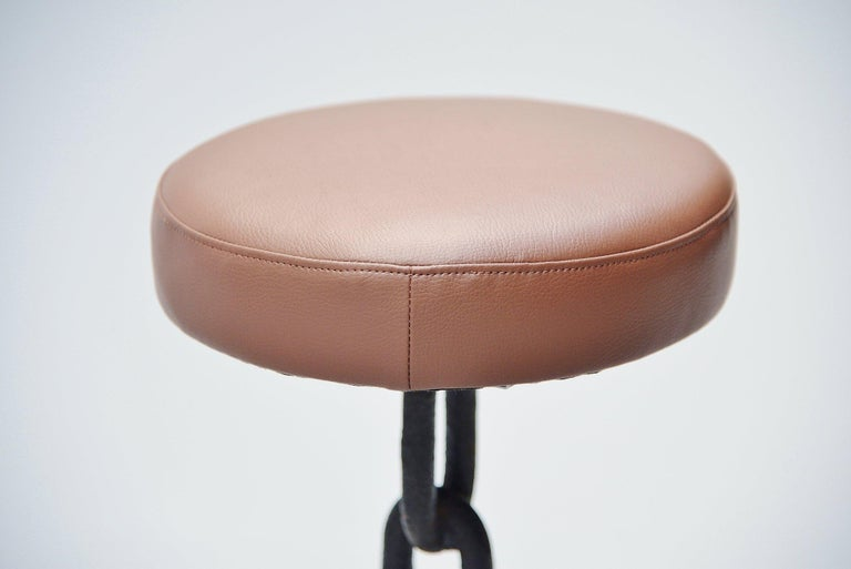 Iron Franz West Style Brutalist Stools, Holland, 1970 For Sale