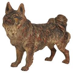 Franz Xaver Bergmann Attributed Austrian Cold Painted Bronze Dog Figure