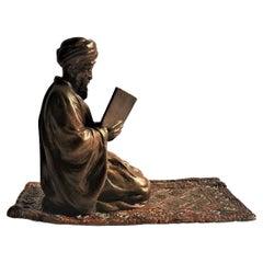 Franz Xaver Bergmann, Koran Reader, Vienna Bronze Sculptural Paperweight, Ca. 19