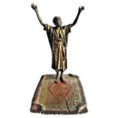 Franz Xaver Bergmann, Praying Man, Vienna Bronze Sculptural Vide Poche, Ca. 1900