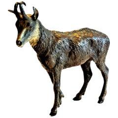 Franz Xavier Bergmann, a Mountain Goat, Miniature Vienna Bronze, circa 1900