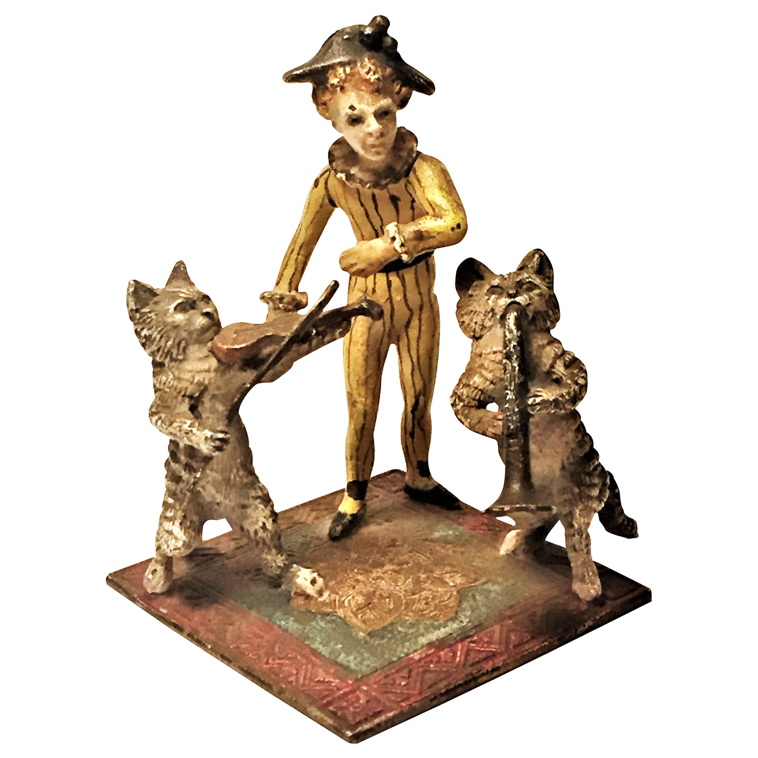 Franz Xavier Bergmann, a Trio, Miniature Vienna Bronze Sculpture, circa 1900