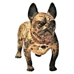 Franz Xavier Bergmann, French Bulldog, Miniature Vienna Bronze Sculpture, 1900