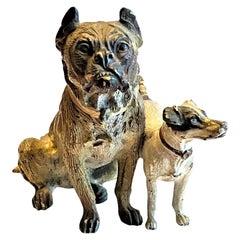 Franz Xavier Bergmann, Friends, Miniature Vienna Bronze Sculpture, circa 1900