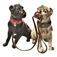 Franz Xavier Bergmann Pair of French Bulldogs Miniature Vienna Bronze circa 1900