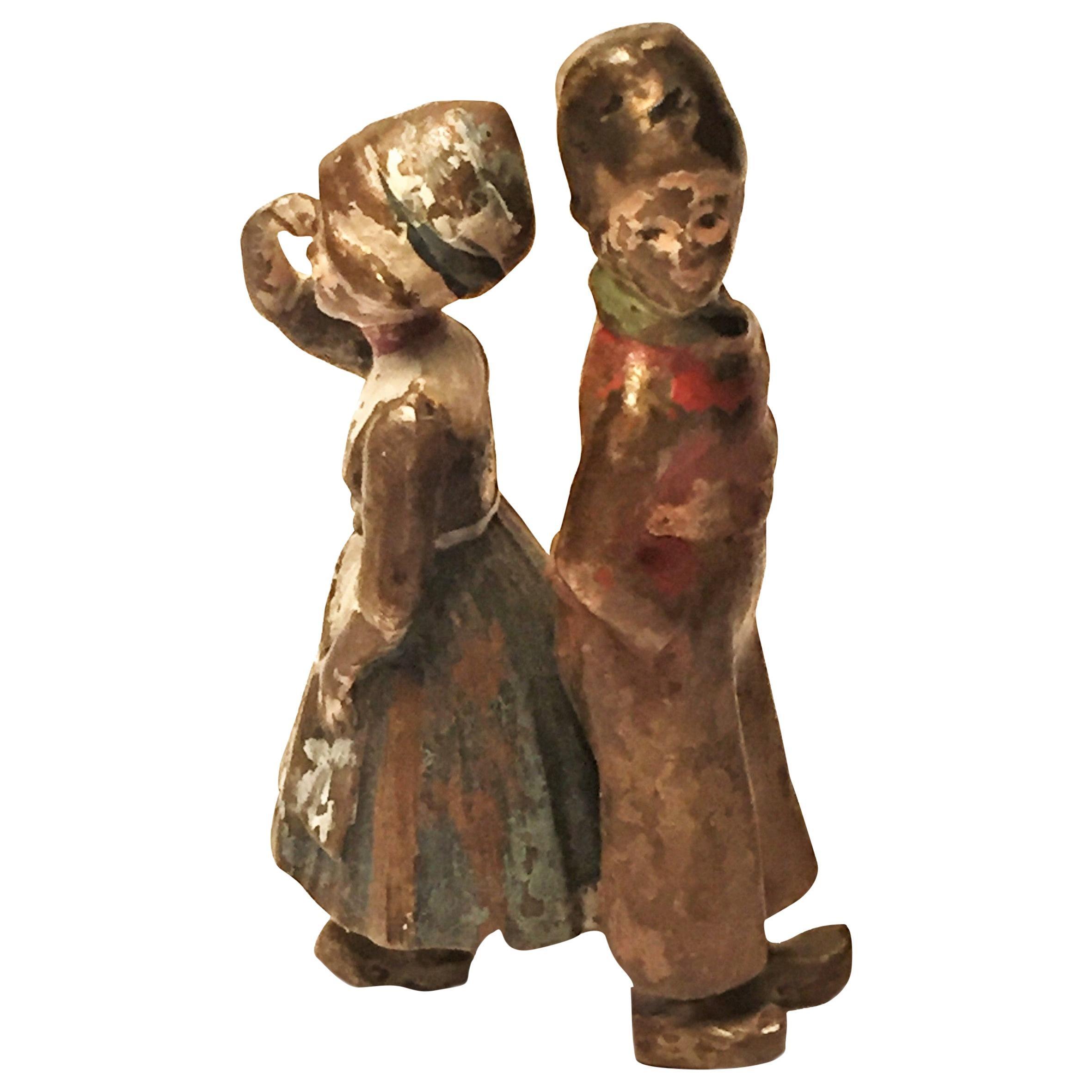 Franz Xavier Bergmann, Quarrel, Miniature Vienna Bronze Sculpture, circa 1900