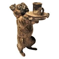 Franz Xavier Bergmann, Waiter, Miniature Vienna Bronze Sculpture, circa 1900