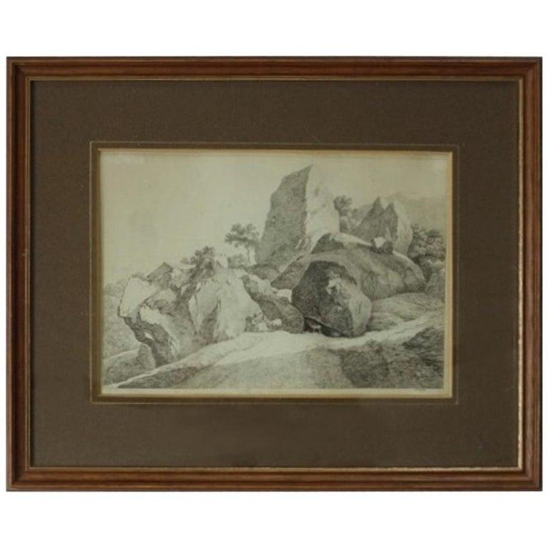 Franz Xavier Lorenz Etching, 1793-1851 For Sale