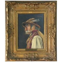 Franz Xavier Wolfle Oil on Panel 'German 1887-1972'
