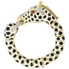 Frascarolo Enamel, Ruby, and Diamond Giraffe Bracelet