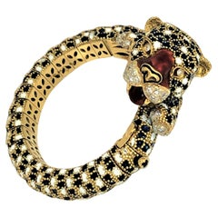 Frascarolo Leopard Bracelet with Enamel and Diamonds