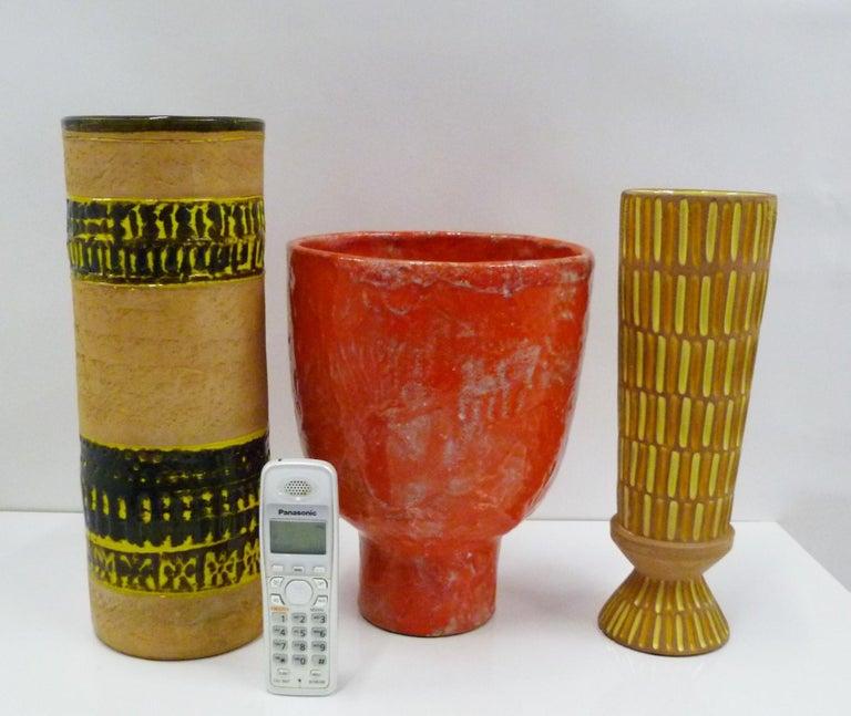 Fratelli Fanciullacci Bitossi Midcentury Italian Modern Pottery Vase Londi, 1960 4