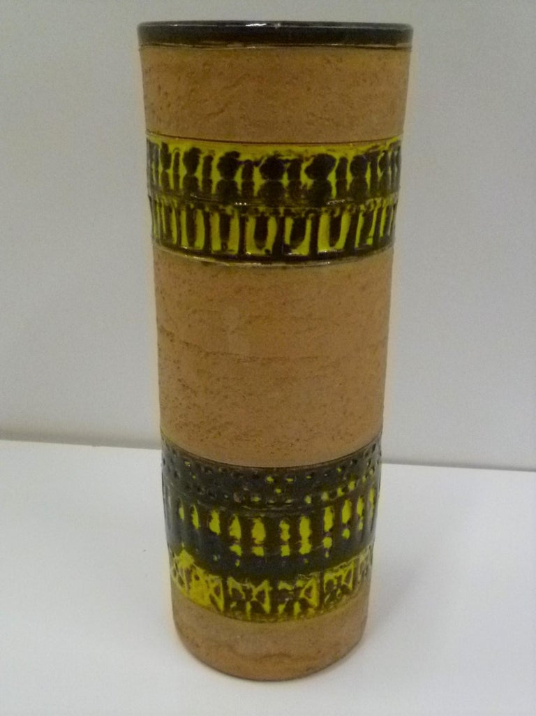 Glazed Fratelli Fanciullacci Bitossi Midcentury Italian Modern Pottery Vase Londi, 1960