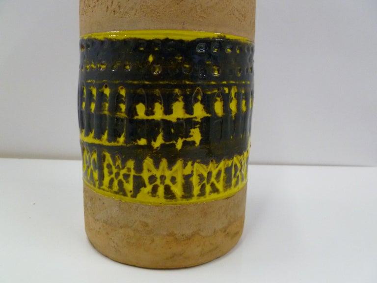 Mid-20th Century Fratelli Fanciullacci Bitossi Midcentury Italian Modern Pottery Vase Londi, 1960