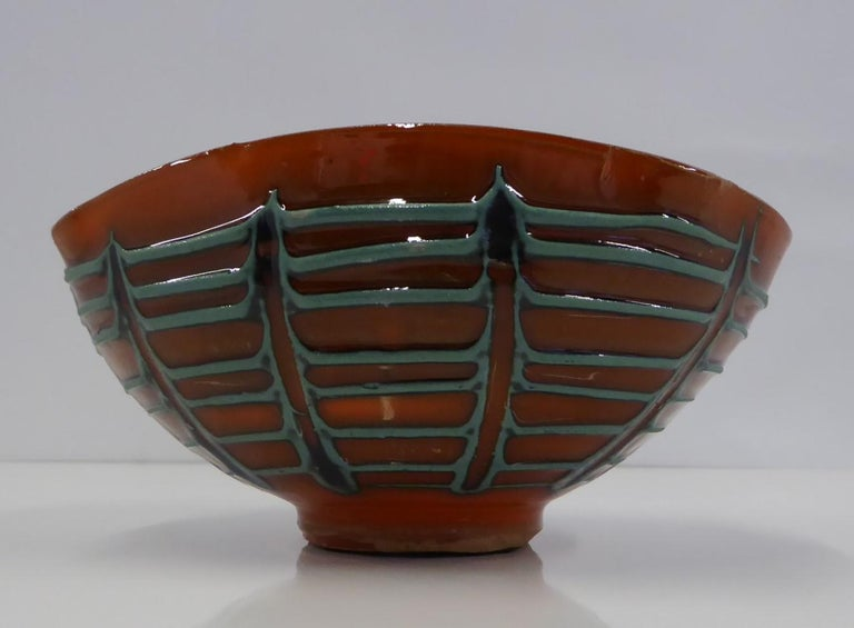 Mid-Century Modern Fratelli Fanciullacci for Melrose Oval Shaped Bowl Italian Modern Bitossi, 1960s For Sale