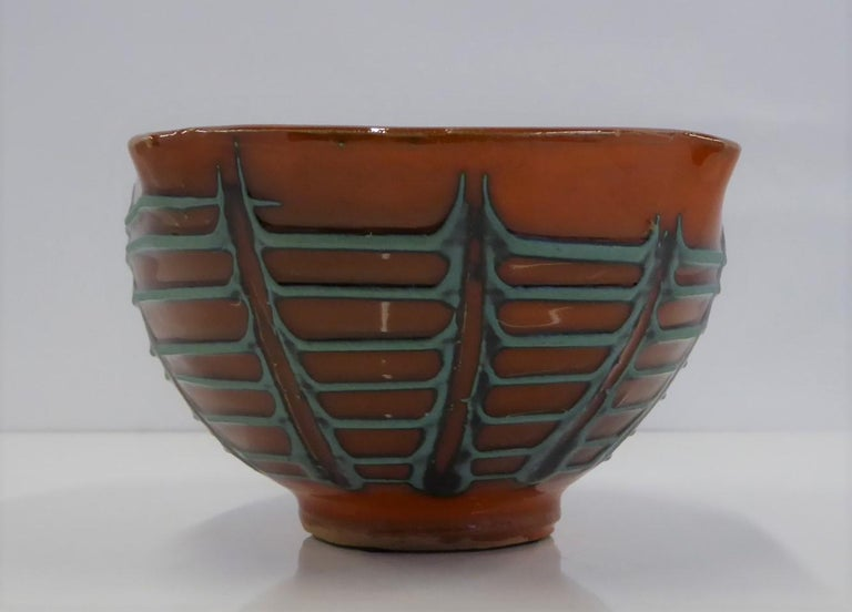 Mid-20th Century Fratelli Fanciullacci for Melrose Oval Shaped Bowl Italian Modern Bitossi, 1960s For Sale