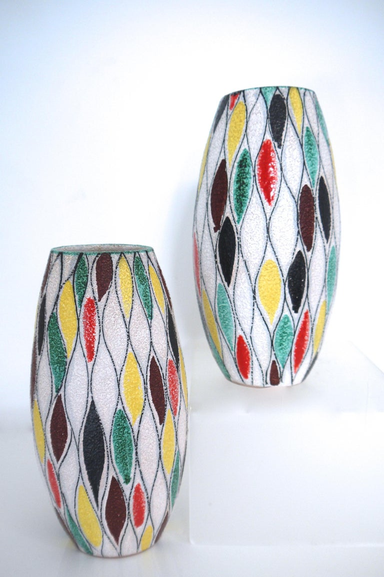 Mid-20th Century Fratelli Fanciullacci Modernist Matching Vases 1965, Signed  For Sale