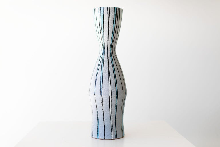 Mid-Century Modern Fratelli Fanciullacci Striped Vase for Ebeling Reuss For Sale