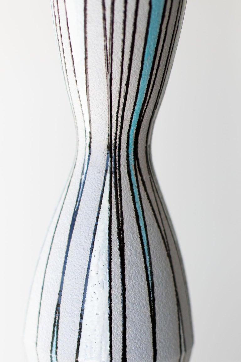 Italian Fratelli Fanciullacci Striped Vase for Ebeling Reuss For Sale