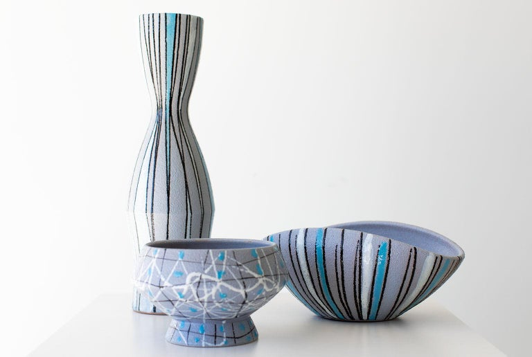 Fratelli Fanciullacci Striped Vase for Ebeling Reuss For Sale 2
