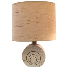 Fratelli Manelli Travertin Table Lamp, circa 1970s