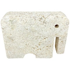 Fratelli Mannelli Travertine Elephant Sculpture, Italy, 1970s
