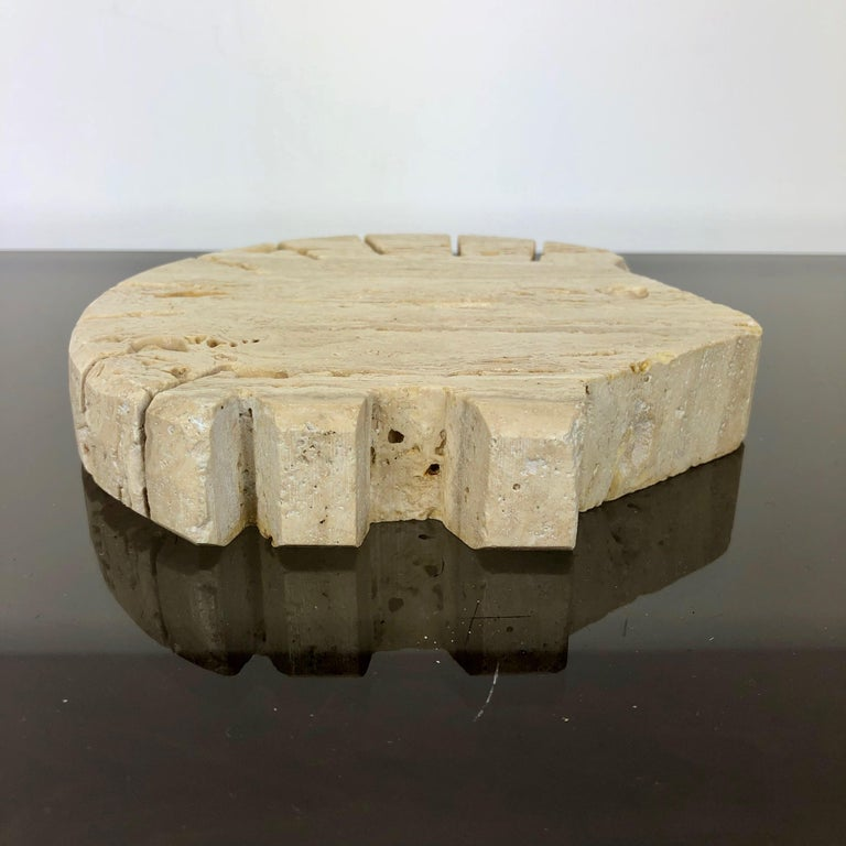 Fratelli Mannelli Travertine Letter Holder Porcupine Sculpture Italy, 1970s For Sale 1