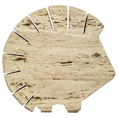 Fratelli Mannelli Travertine Letter Holder Porcupine Sculpture Italy, 1970s