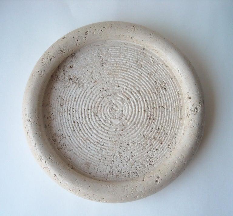 Italian Fratelli Mannelli Travertine, Limestone, Bowl Centerpiece For Sale