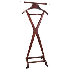 Fratelli Reguitti Valet Stand in the Style of Parisi 1960s Mahogany Beech