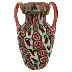 Fratelli Toso 1900 Multi-Color Murrini Vase in Murano Glass