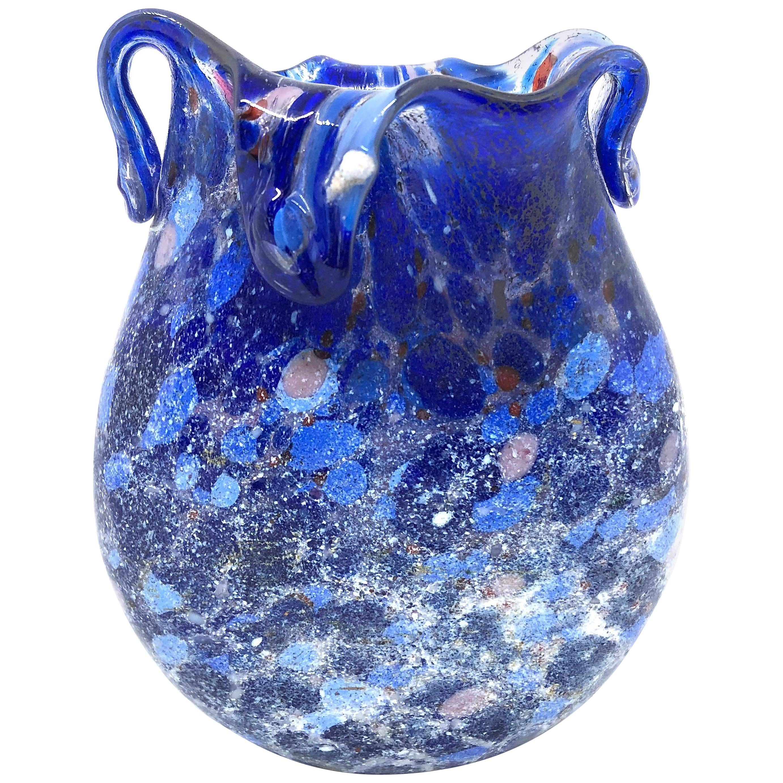Fratelli Toso Murano Art Glass Neoclassical Miniature Vase, Italy, 1960s