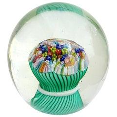 Fratelli Toso Murano Micro Mosaic Wild Flowers Italian Art Glass Paperweight