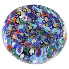 Fratelli Toso Murano Multi-Color Murrine Italian Art Glass Bowl, 1950s
