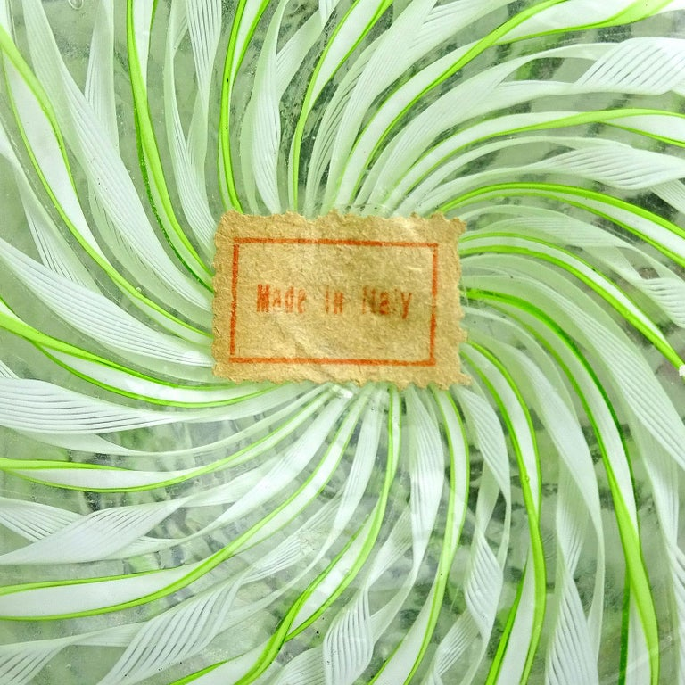 Fratelli Toso Murano Pink Green Copper Italian Art Glass Specimen Flower Vases For Sale 1