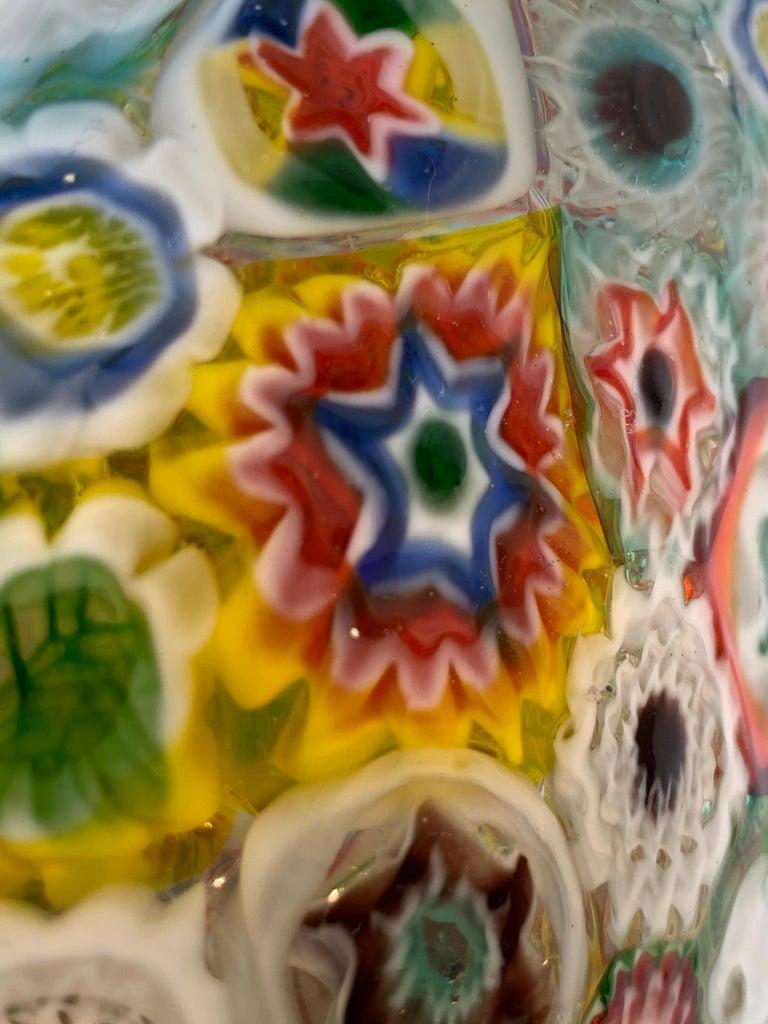 Fratelli Toso Murano Venice Italy Art Nouveau Blown Glass Millefiori Vase For Sale 13