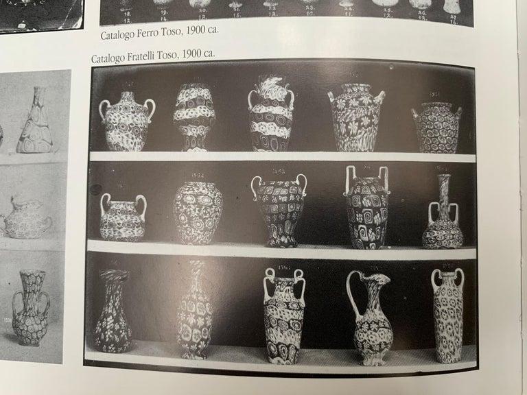 Fratelli Toso Murano Venice Italy Art Nouveau Blown Glass Millefiori Vase For Sale 14