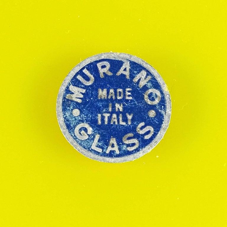 20th Century Fratelli Toso Murano Yellow Green Italian Art Glass Melon Cut Decorative Bowl For Sale