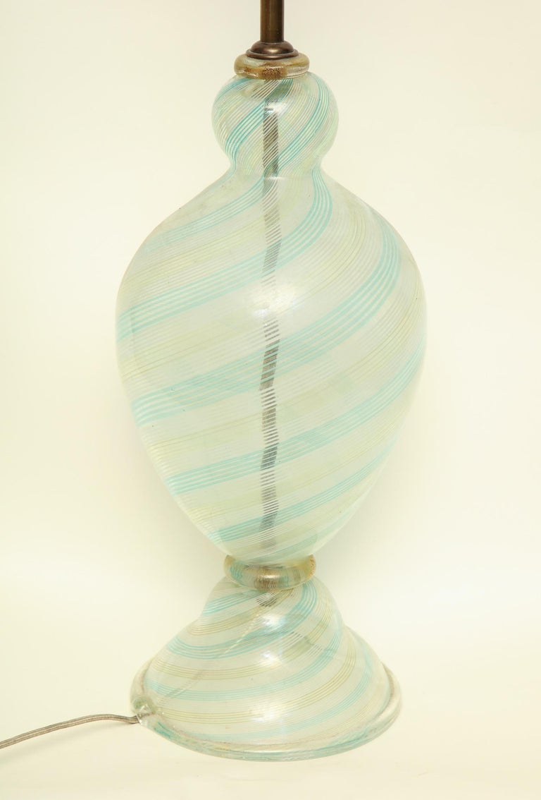 Fratelli Toso Table Lamp Murano Art Glass Mid-Century Modern Italy, 1940s For Sale 7
