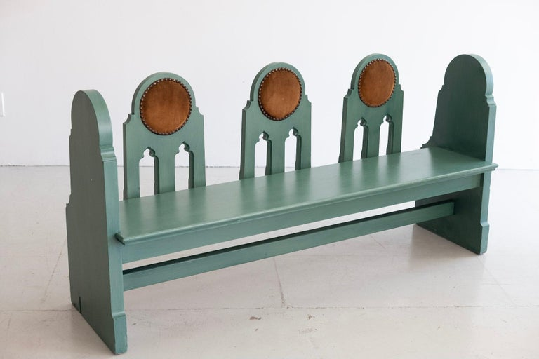 American Fraternal Lodge Bench, circa 1930s For Sale