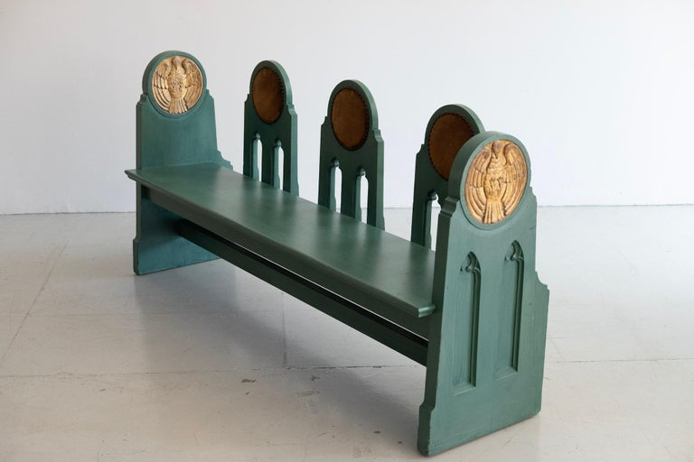 Mid-20th Century Fraternal Lodge Bench, circa 1930s For Sale
