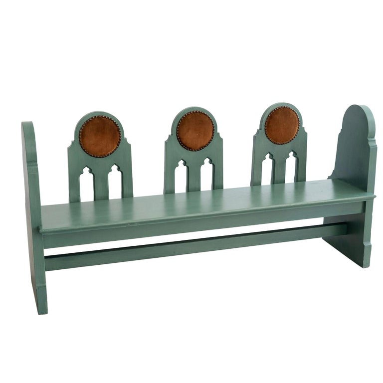 Fraternal Lodge Bench, circa 1930s For Sale